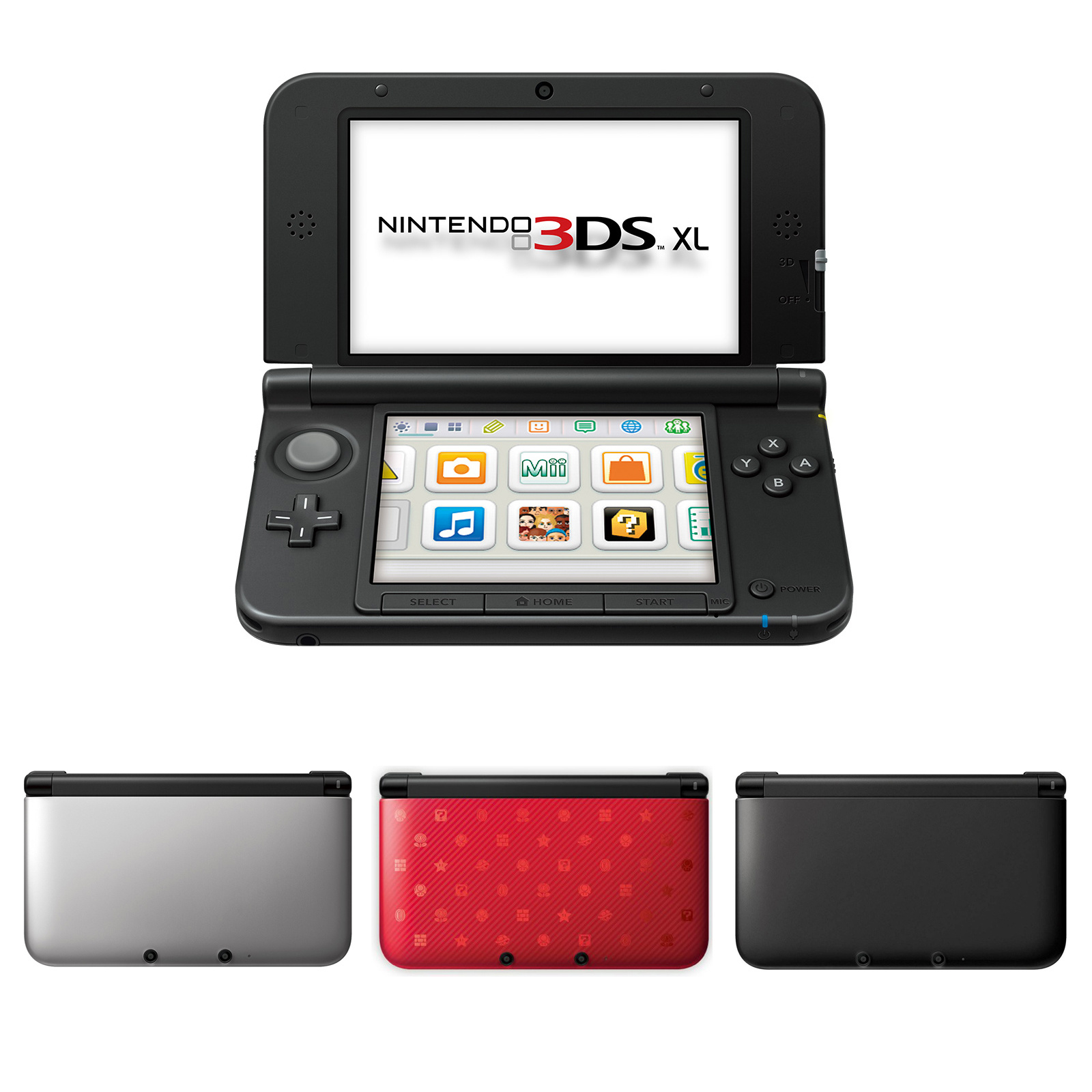 New 3 Ds Xl Metallic Black Nintendonintendo 3ds Console Handheld System With Sd Card Games Fit To Viewer Prev Next Nintendo