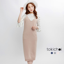 TOKICHOI - Knitted Pinafore Dress-170480