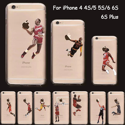 pretty nice cac95 5302b nba cover iphone 6s case silicon sport transparent soft tpu basketball case  apple iphone 6s plus 6