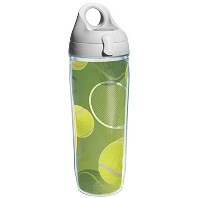 4857d30cc7a Tervis Tennis Balls Wrap and Water Bottle with Grey Lid, 24-Ounce, Beverage