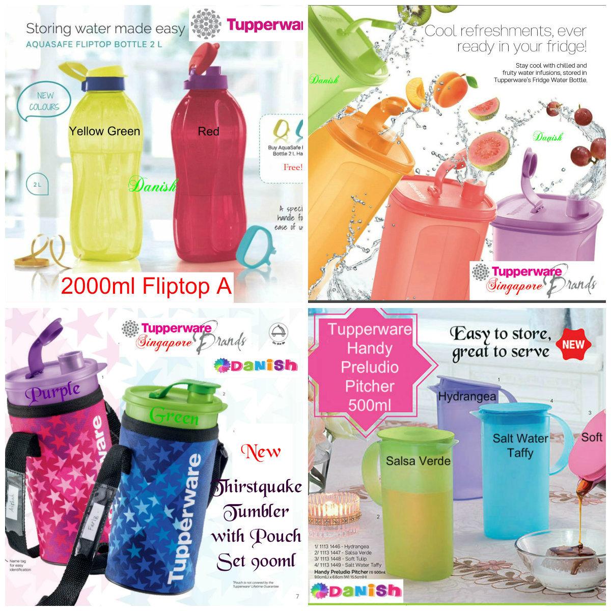 Tupperware Brands Singaporesg Er Authentic Fridge 2l Water Bottle School Sports Bpa Free Cycle