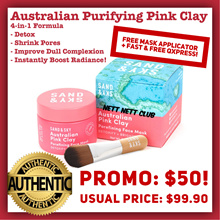 #1 MASK! - Sand and Sky Brilliant Skin™ - Australian Purifying Pink Clay Mask