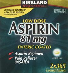 kirkland aspirin 81mg / USA direct shipping / ships same day