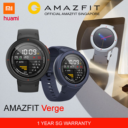 [Official Amazfit Singapore] XIAOMI HUAMI AMAZFIT Verge Smart Watch | English Version