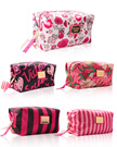 RED🔥New style🔥 Striped flower cosmetic bag large capacity storage bag wash bag