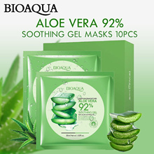 【READY STOCK IN SG NOW!】 BioAqua Aloe Vera 92% Soothing Gel Masks 10pcs [With Box]
