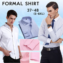 【2018 Spring new arrivals】 men long sleeve fashion shirt lapel Slim non-iron business shirts