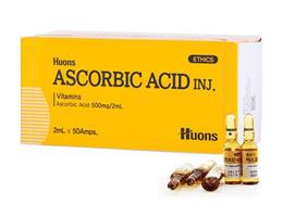 Korea Huons Ascorbic Acid Vitamin C Anti-Aging Whitening 2ml x 50 amps Exp 2019