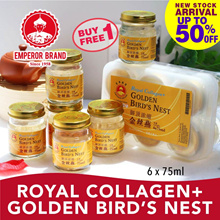 ( Best Buy! ) Royal Collagen + Golden Bird Nest 6x75ml! Buy1 FREE 1
