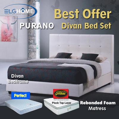 purano bedframe and foam mattress set10 inches goodnite mattressbed