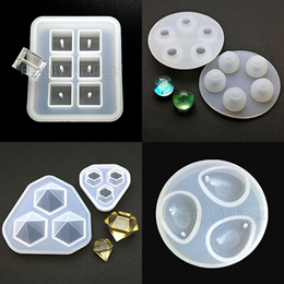Resin casting mold / silicone sphere 3D diamond beads cube