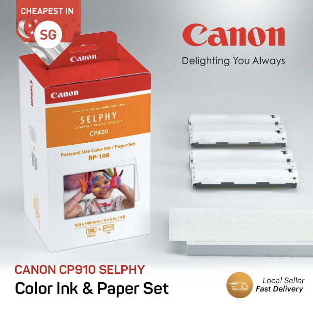 CANON SELPHY RP-108IN 108 sheets / KC-36IP 36 Sheets Photo Paper Card Size  4R RP108IN KC36IP CP910