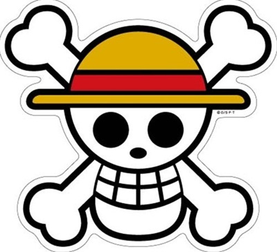 Qoo10 Big Sticker Straw Hat Pirates Flag One Piece Pansonworks