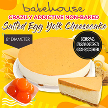 HAPPY BIRTHDAY SINGAPORE !!! ★ Crazily Addictive Non-Baked Salted Egg Yolk Cheesecake ★ // ♥ FREE DELIVERY ♥ //