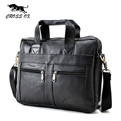 CROSS OX Genuine Leather Men Briefcase Man Bags Business Laptop Tote Bag Men  s Crossbody Shoulder 1f3b72b6df187