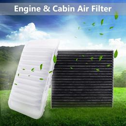 1Set 2pcs Car Cabin & Engine Air Filter For Toyota Corolla Yaris 09-17 Matrix 09-14 Scion