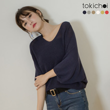 TOKICHOI - Knitted V-Neck Sweater-180375-Winter