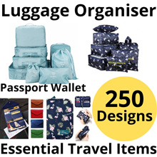 Travel Essentials Accessories Travel Organiser Bag Organizer Pouch Luggage Pillow Belt Toiletry Bag