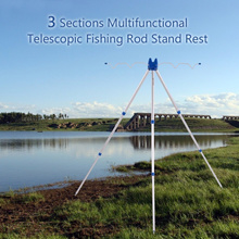 3 Sections Multifunctional Portable Telescopic Fishing Rod Stand Rest Sea Fishing Tripod Rod Holder