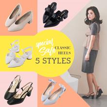 ♥JUNE SALE♥ Gracegift-Classic Heels/Women/Ladies/Girls Shoes/Taiwan Fashion