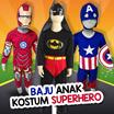 [ Only Size 4 =  2 - 2.5 tahun !! ] BAJU ANAK KOSTUM SUPERMAN DAN BATMAN BERSAYAP