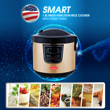 Europace 1.8L SMART Rice Cooker with Preset Timer - ALL IN ONE - 15 MONTHS WARRANTY