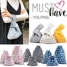 💕 Best Christmas gift 💕lunch bag / Japanese wristlet / drawstring bag / canvas bag