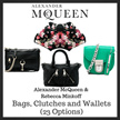 Alexander McQueen and Rebecca Minkoff Bags Clutches and Wallets (Available in 23 Options)