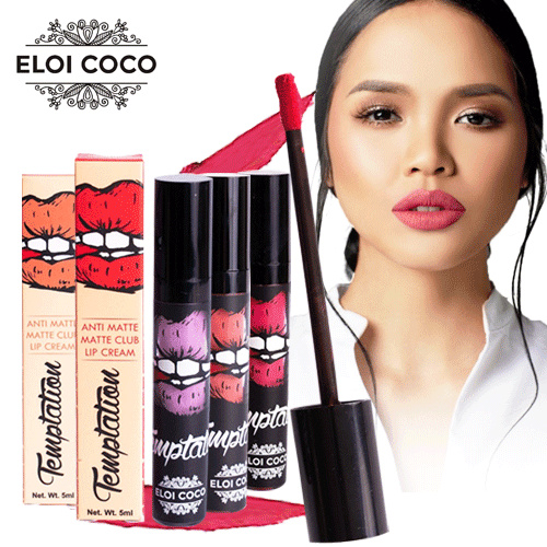 New Collection TEMPTATION ANTI MATTE CLUB LIP CREAM || 6 New Varian Deals for only Rp128.000 instead of Rp228.571