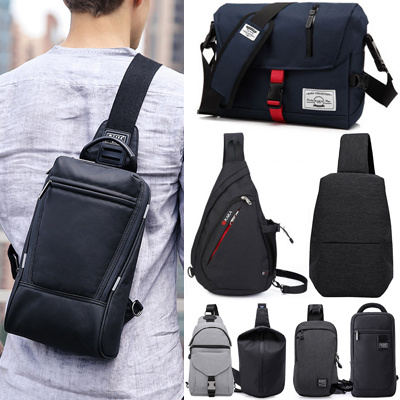 High Quality Men Canvas Bag High Capacity Bags Messenger Bag/School Bag/Daily Bag/Rucksack/Outdoor Deals for only S$49.9 instead of S$49.9