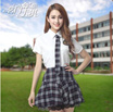 Japanese female students loaded sailor suit summer uniforms JK uniforms class service short-sleeved Japanese style British navy suit COS
