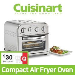 Cusinart Compact Air Fryer Oven TOA-28 ★ Toaster Oven 9L