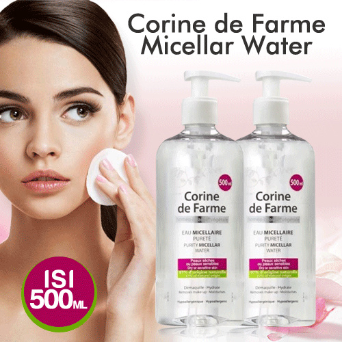 Micellar Water 500ml Corine de Farme the Purity Deals for only Rp159.000 instead of Rp220.833
