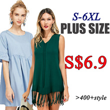 plus size/tops/dress/pants/shorts/Short sleeve t-shirt/Sling shirt/suit/Loose coat/Ladies/S-6XL