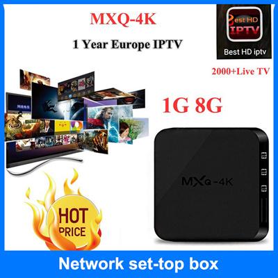 ★MXQ Pro/4K OTT IPTV Network TV Box 4K Ultra HD Android 7 1 Quad Core  Internet Streamer Media Player
