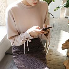 【CHERRYKOKO】 Long Sleeve Ribbon Round Neck Knit 【New Fall Winter】 【Free Shipping】 ★ Korean Fashion ★ C709 MSKN 39