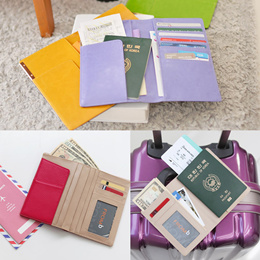 NEW Genuine Leather Travel Passport Wallet Holder Case Cover ID Card Pouch Pocket