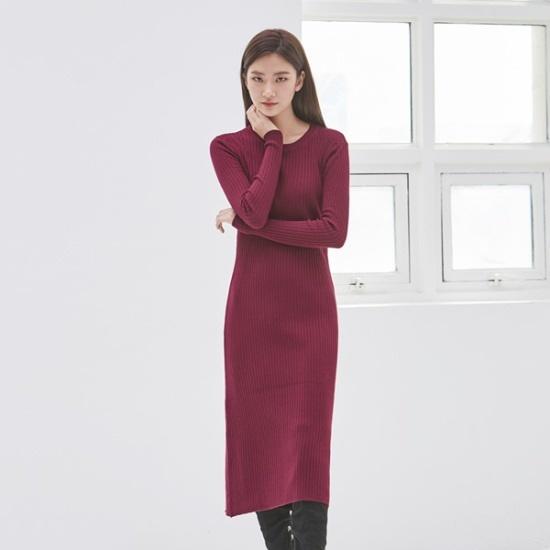 ナインNAINゴルジニットロングワンピースOP3484 面ワンピース/ 韓国ファッション