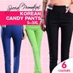 [Local PROMOTION] ★ 2016 Korean Pants ★ Stretchy Elastic High Waist Pencil Pants / Culottes / Women ~NO OPTION PRICE~