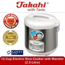 [TAKAHI] 12-Cup Electric Rice Cooker With Warmer (2.2L)(Model:1630)