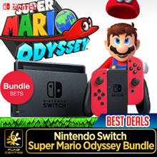 Nintendo Switch Super Mario Odyssey Bundle. Include High Speed HDMI Cable / Super Mario Odyssey Game Card / Joy-Con (L)(R) / Joy-Con Straps / Joy-Con Grip. Local Stocks with 12 Months Warranty!