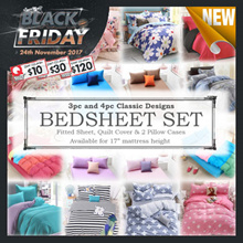 [CART COUPON FRIENDLY!] FITTED BEDSHEET SET ONLY! MANY DESIGNS Classy Romantic Silky Set