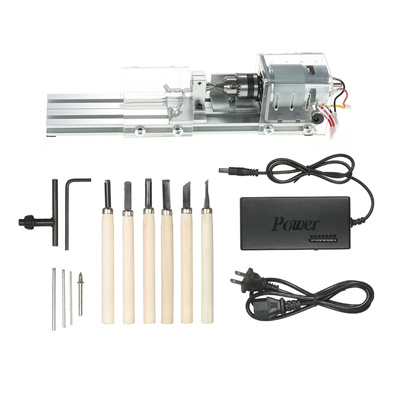 100W 12-24V Mini Lathe Beads Polisher Woodworking DIY Craft Rotary Machine