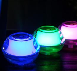 Acrylic Crystal Nightlight USB Humidifier 5V Office Air Mist Diffuser with Absorbent Filter Stick Night light Function