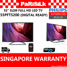 PHILIPS 55 INCHES 5200 SERIES FULL HD SLIM DIGITAL LED TV 55PFT5200/98 - 3 YEARS SINGAPORE WARRANTY