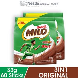 NESTLE MILO 3IN1 ACTIV-GO 30 Sticks 33g x2 packs