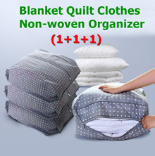 (1+1+1) Blanket Quilt Clothes Non-woven Organizer Storage Box