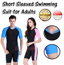 Adult Short Sleeve Snorkel Diving Swimming Suit Swim Clo