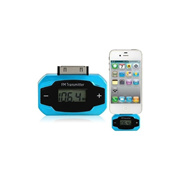 A-04 88.1-107.9 MMHz Car FM Transmitter for iPhone? iPod (Blue)