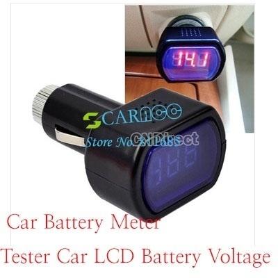 Qoo10 Car Battery Meter Tester Car Lcd Battery Voltage Meter